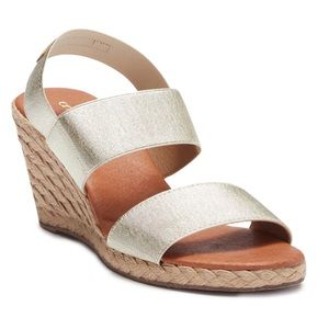 NEW Andre Assous Allison Wedge Espadrille Sandal 8